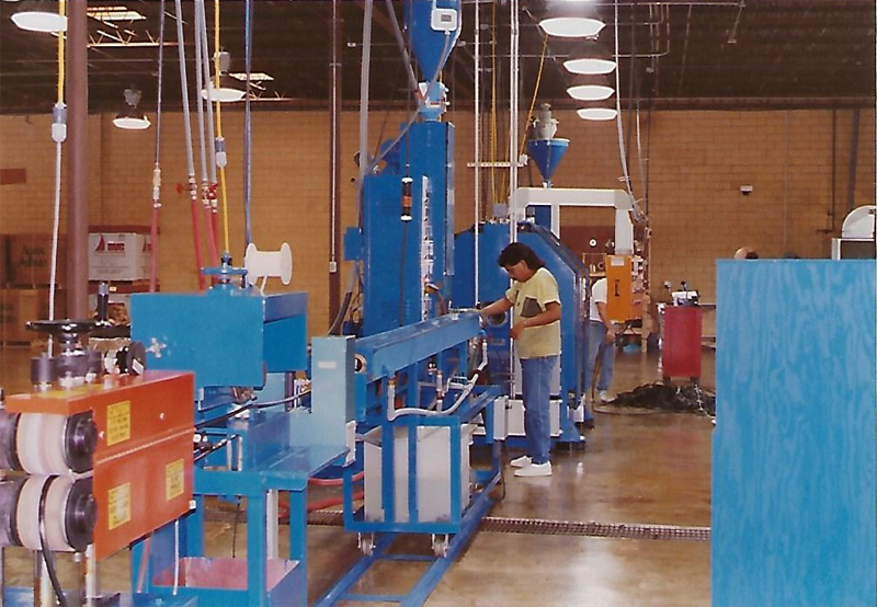 warehouse line for hose extrusion